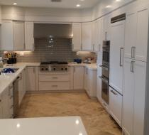 White Modern Custom Kitchen Cabinet Design & Installation New Style Kitchen Cabinets Miami Florida USA