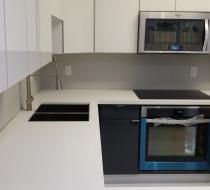 European White & Gray Acrylic Kitchen Cabinet Miami Florida