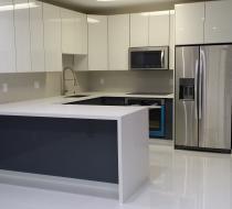 European White & Gray Kitchen Cabinet Miami Florida