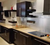 Flat Square Countertop, Custom Kitchen