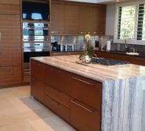 Custom Kitchen with Luxury Marble Countertop