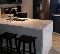 Custom Kitchen Cabinet Grey Flat Modern Style in Fort Lauderdale Florida